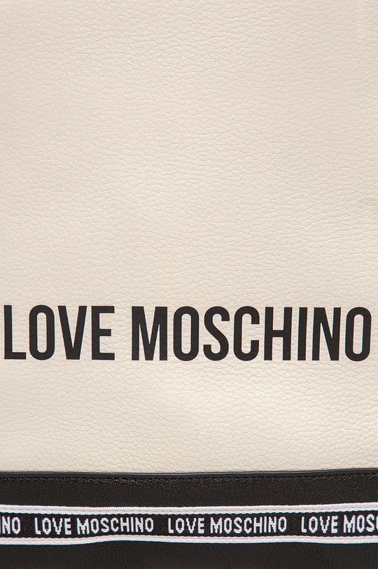 Love Moschino - Шкіряний рюкзак білий