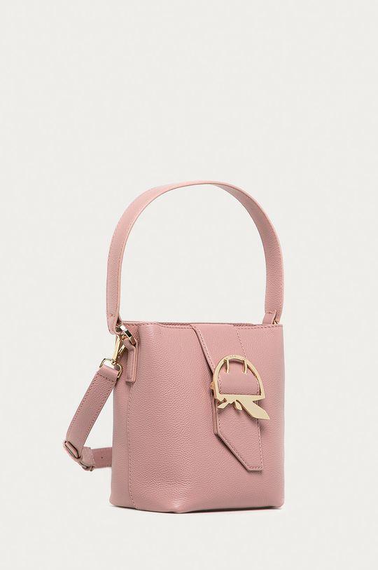rózsaszín Patrizia Pepe - Bőr táska