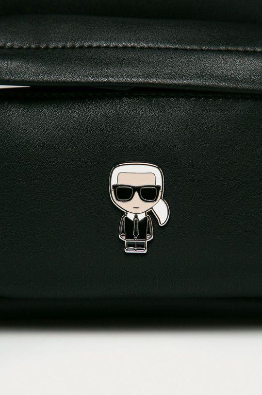 Karl Lagerfeld - Шкіряний рюкзак чорний