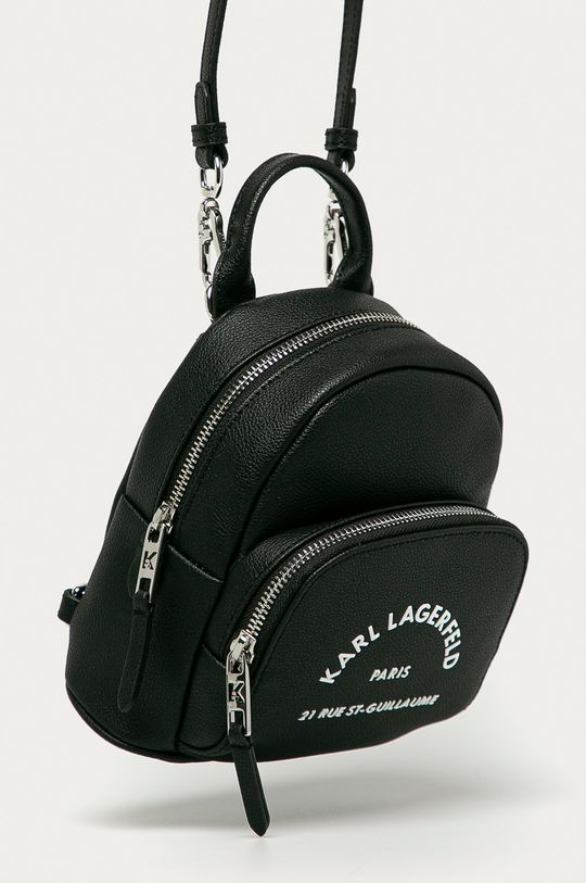 Karl Lagerfeld - Kožený ruksak čierna