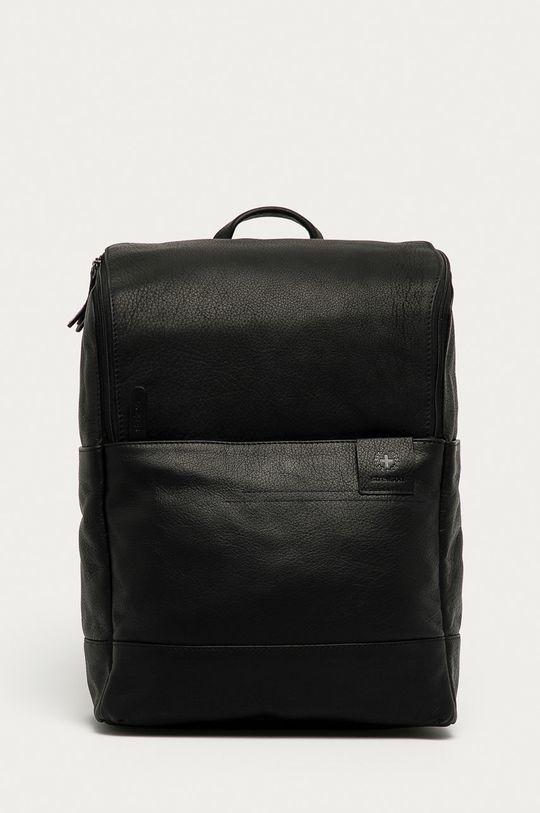 černá Strellson - Kožený batoh Pánský