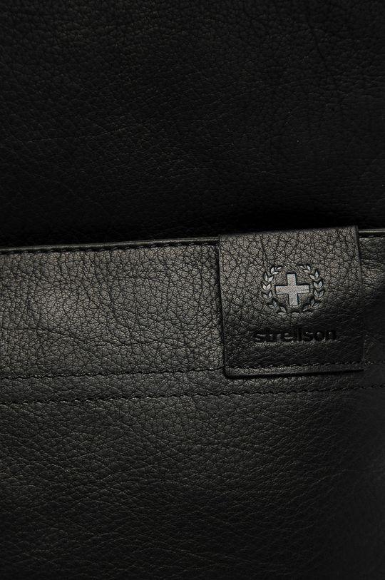 Strellson - Kožený batoh černá