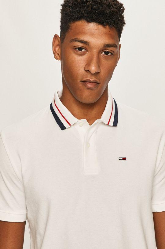biały Tommy Jeans - Polo Męski