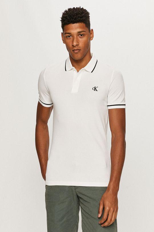 biały Calvin Klein Jeans - Polo Męski