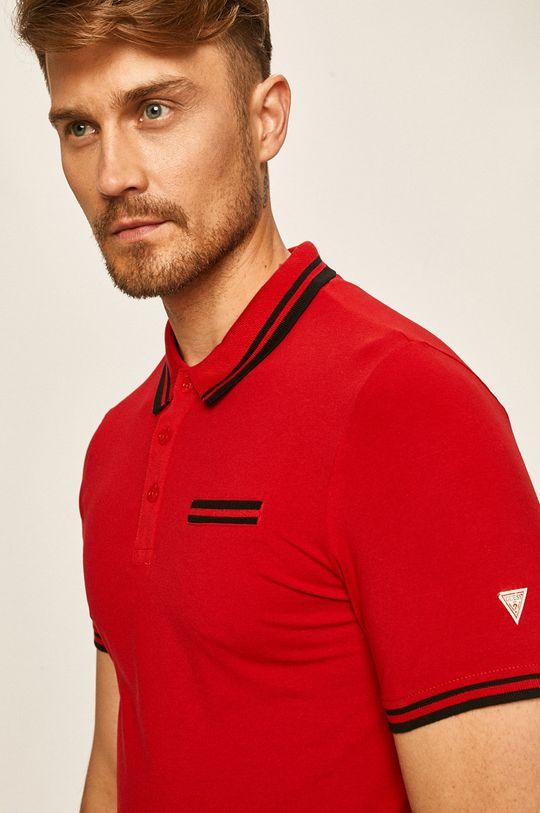 červená Guess Jeans - Polo tričko Pánský