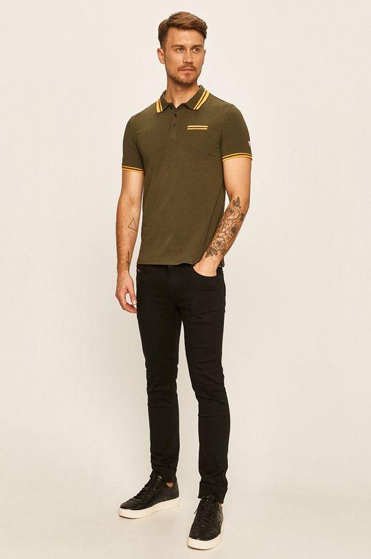 Guess Jeans - Polo tričko khaki