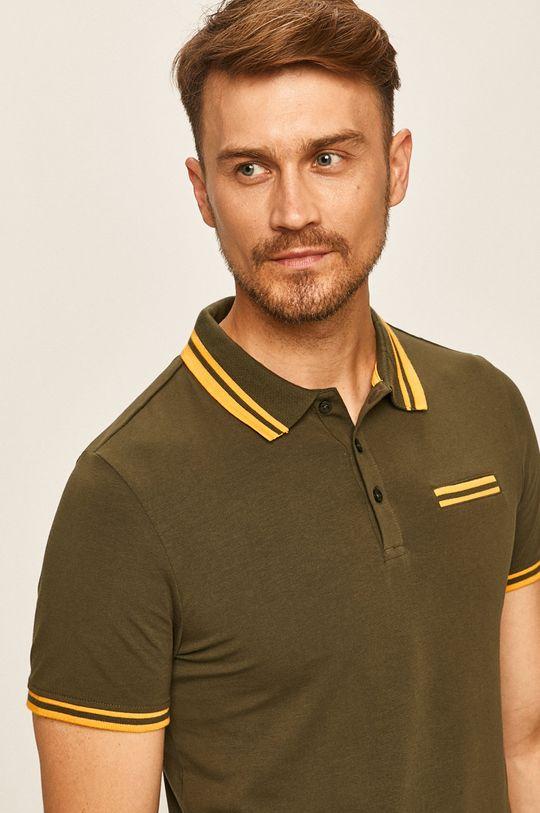 khaki Guess Jeans - Polo tričko