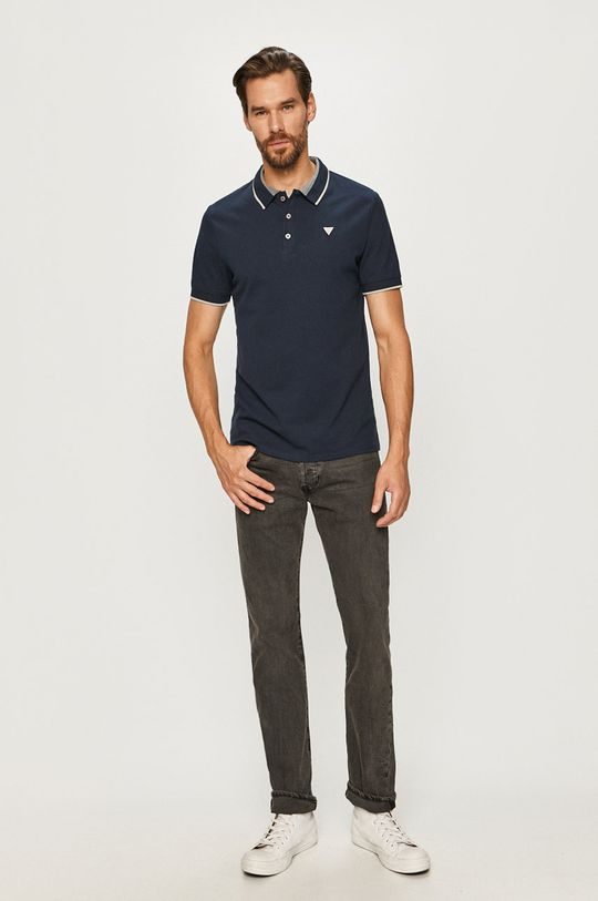 Guess Jeans - Polo granatowy