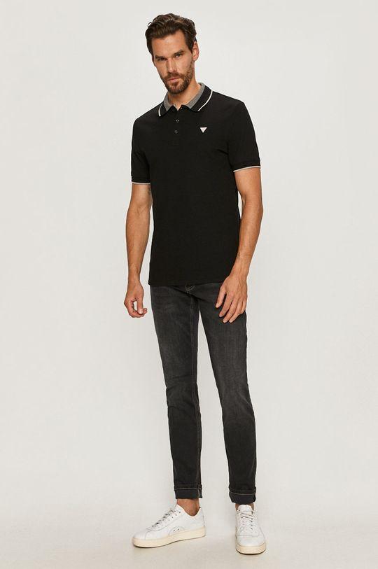 Guess Jeans - Polo czarny