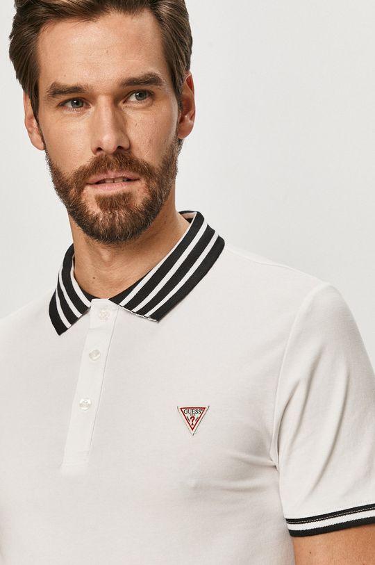bílá Guess Jeans - Polo tričko