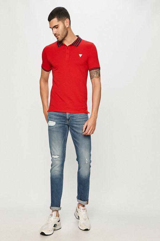 Guess Jeans - Polo tričko červená