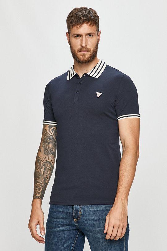 námořnická modř Guess Jeans - Polo tričko Pánský