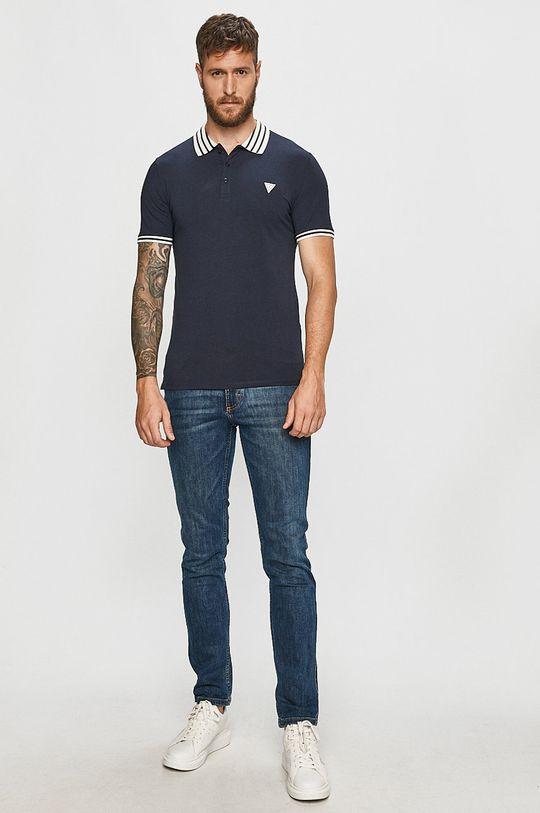 Guess Jeans - Polo tričko námořnická modř