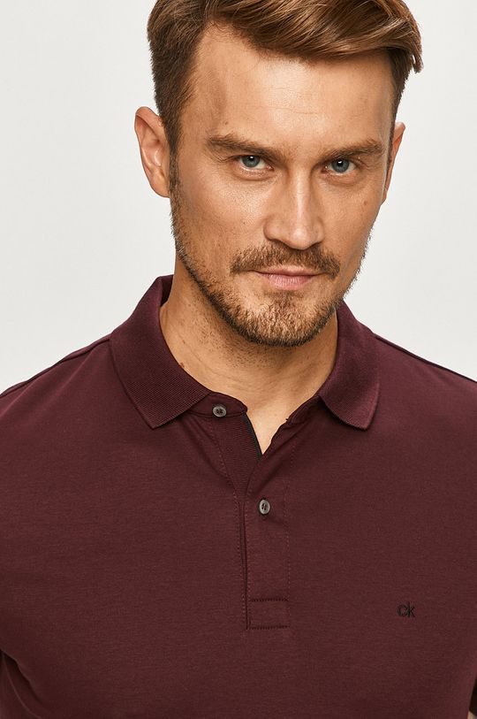 purpuriu inchis Calvin Klein - Tricou