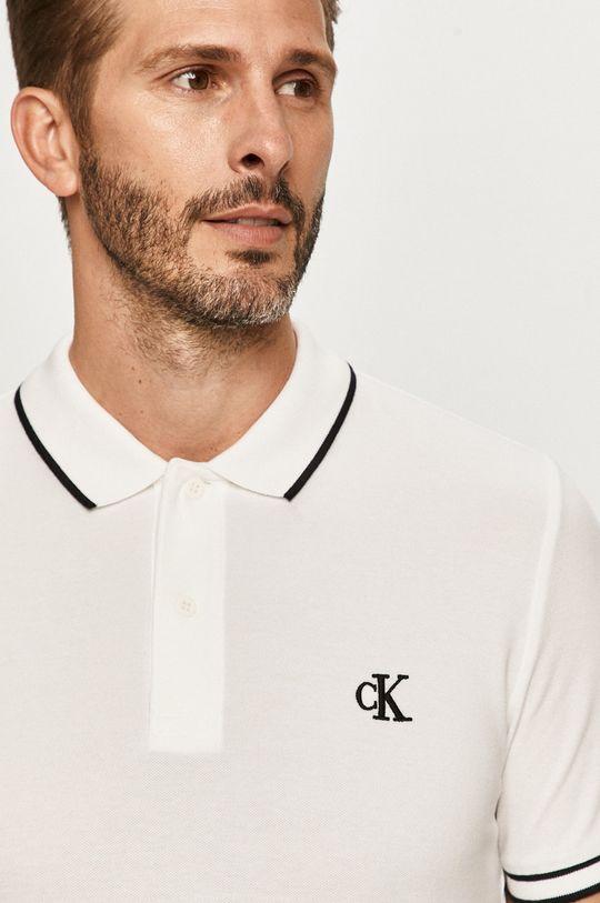 biela Calvin Klein Jeans - Polo tričko