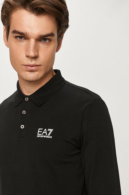 černá EA7 Emporio Armani - Tričko s dlouhým rukávem