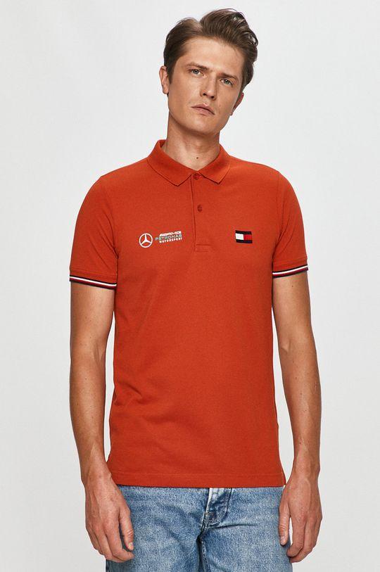 pomarańczowy Tommy Hilfiger Tailored - T-shirt x Mercedes Męski