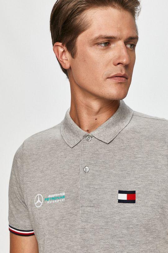 szary Tommy Hilfiger Tailored - T-shirt x Mercedes Męski