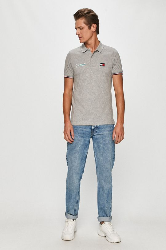 Tommy Hilfiger Tailored - T-shirt x Mercedes szary