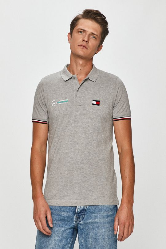 szary Tommy Hilfiger Tailored - T-shirt x Mercedes