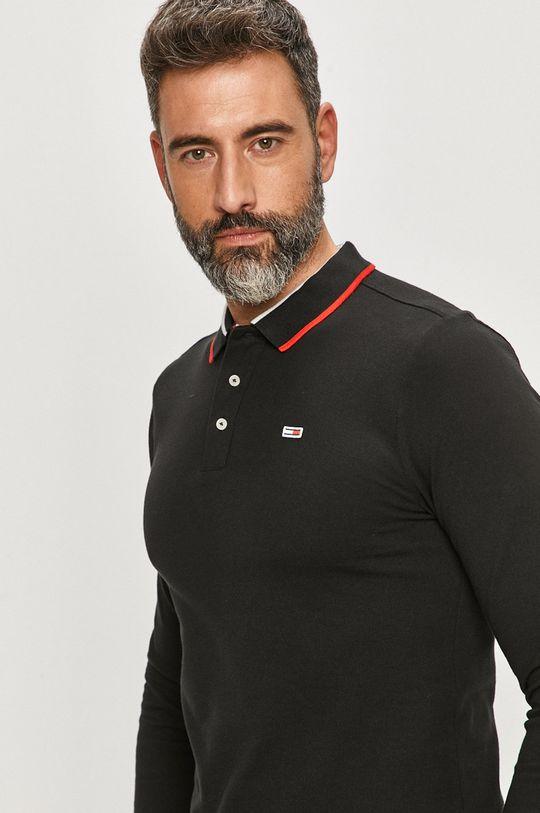 černá Tommy Jeans - Tričko s dlouhým rukávem
