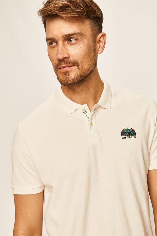 biela Pepe Jeans - Polo tričko Corwin