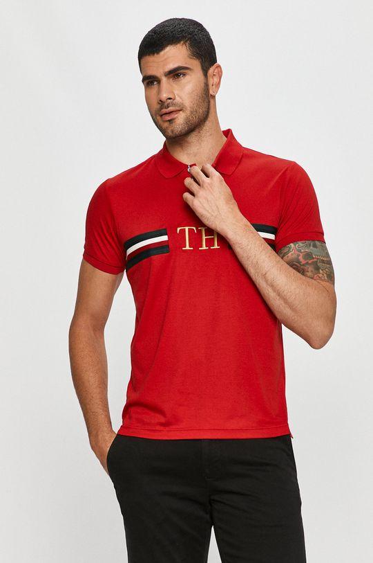 červená Tommy Hilfiger - Polo tričko Pánský