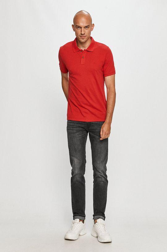 Mustang - Tricou Polo rosu