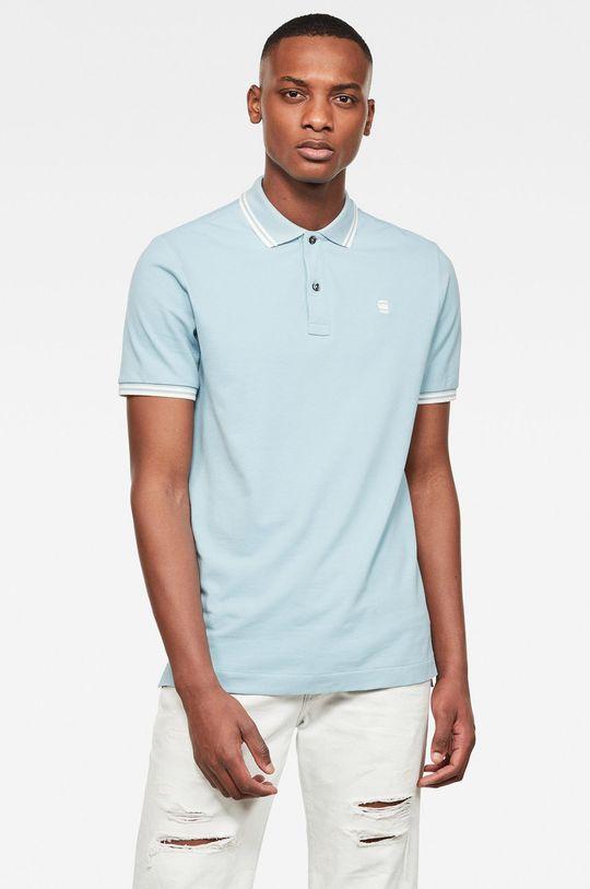 albastru deschis G-Star Raw - Tricou Polo De bărbați