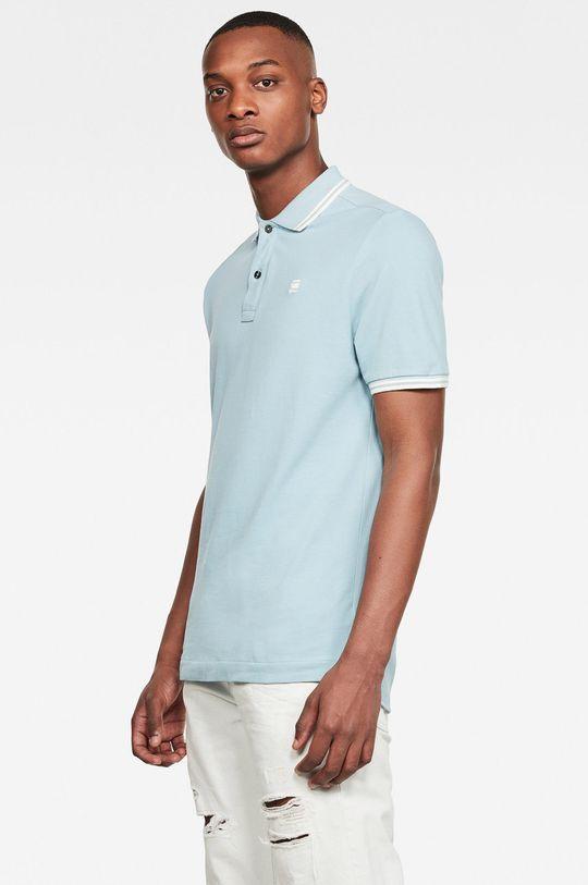 G-Star Raw - Tricou Polo albastru deschis