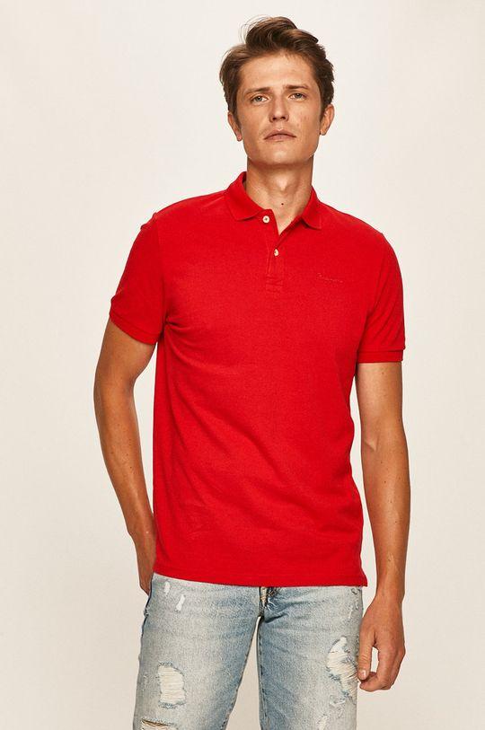 červená Pepe Jeans - Polo tričko Romero Pánský