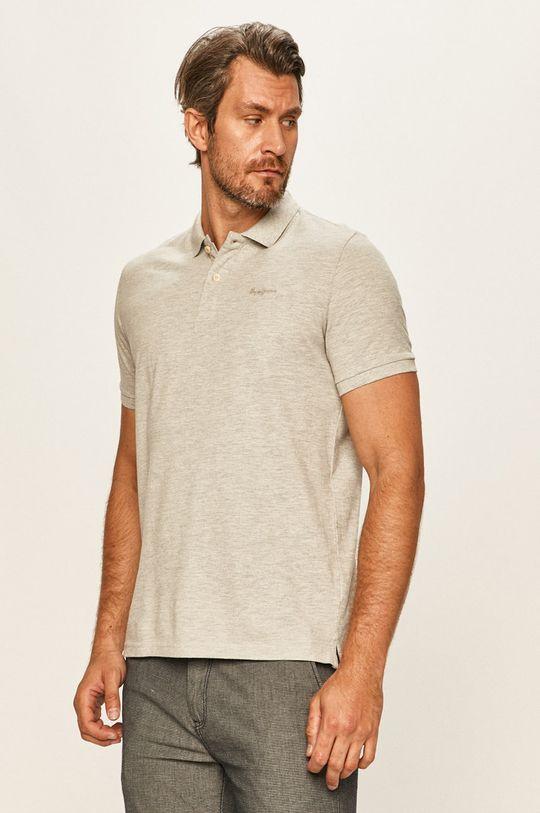 gri deschis Pepe Jeans - Tricou Polo Romeo De bărbați