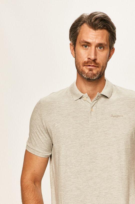 gri deschis Pepe Jeans - Tricou Polo Romeo