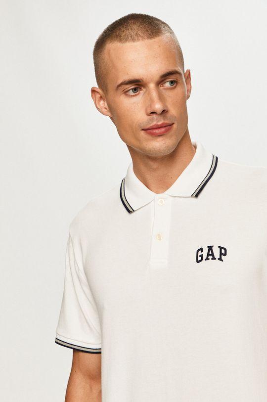 biały GAP - Polo Męski