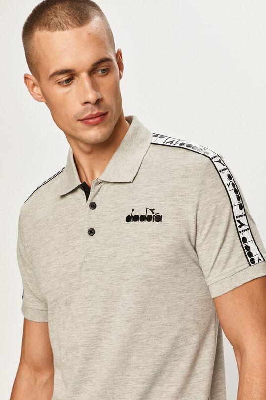sivá Diadora - Polo tričko Pánsky