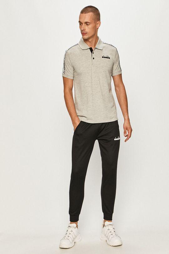 Diadora - Polo tričko sivá