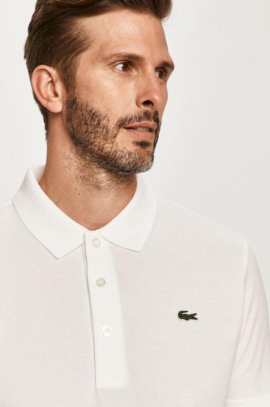 biela Lacoste - Polo tričko