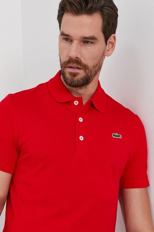 červená Lacoste - Polo tričko Pánsky