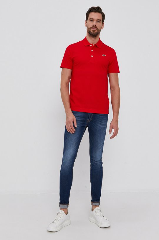 Lacoste - Polo tričko červená