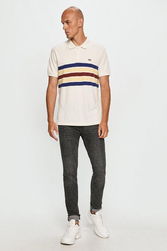 Levi's - Tricou Polo alb