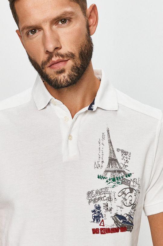 bílá Desigual - Polo tričko Pánský