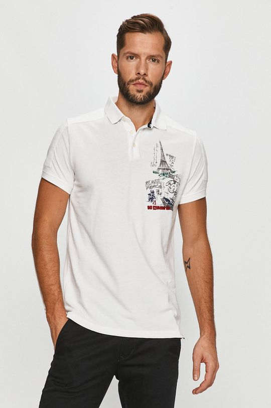 alb Desigual - Tricou Polo