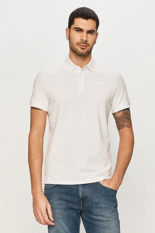 bílá 4F - Polo tričko Pánský