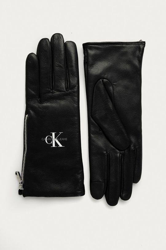 čierna Calvin Klein Jeans - Kožené rukavice Dámsky