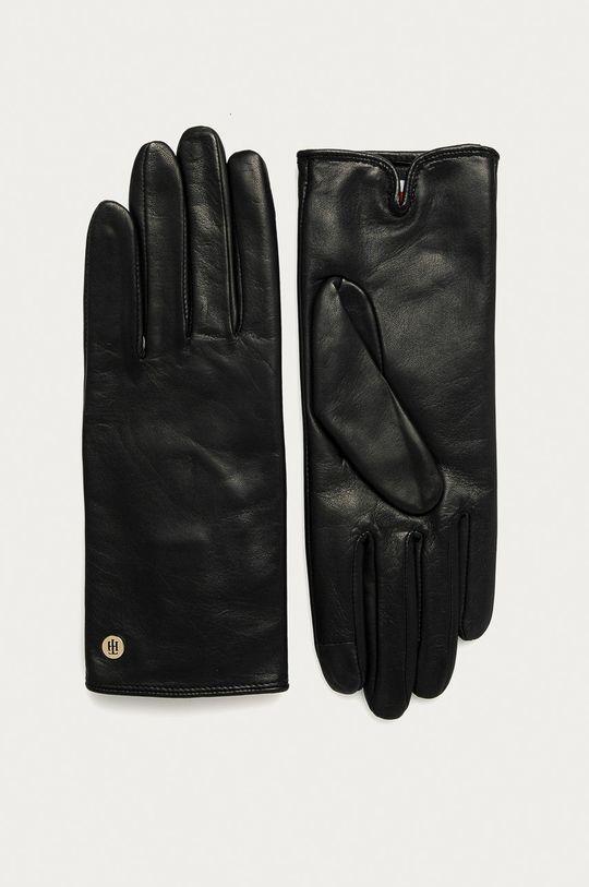 černá Tommy Hilfiger - Kožené rukavice Dámský