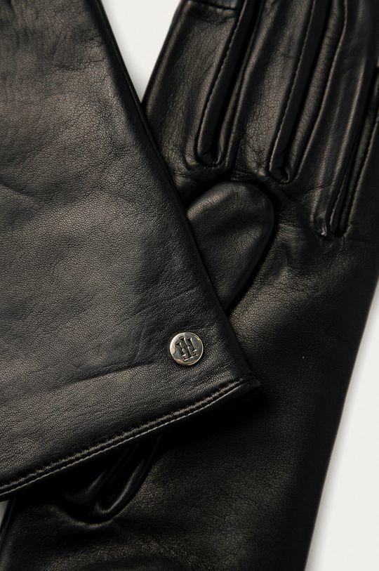 Tommy Hilfiger - Kožené rukavice černá
