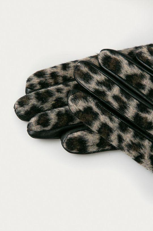 Pieces - Kožené rukavice tělová