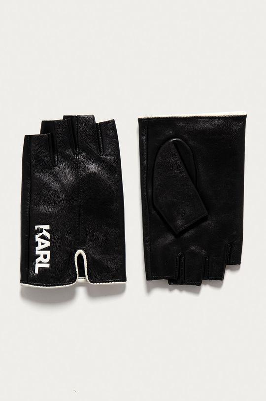 černá Karl Lagerfeld - Kožené rukavice Dámský