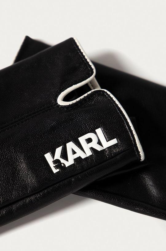 Karl Lagerfeld - Kožené rukavice černá