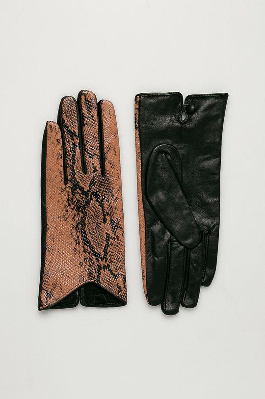 коричневый Scotch & Soda - Кожаные перчатки Женский